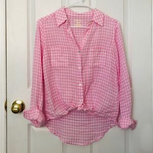Lilly Pulitzer Sea View Botton Down - Pink Gingham